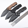 Hot outdoor camping hunting folding knife G10 stainless steel handle tactical survival rescue pocket knives garden