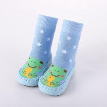 בעלי החיים גרבי תינוק חם להחליק עמיד קריקטורה פו עור רצפת הליכה גרבי קיד תינוקות בני בנות חורף חם עבור ילדים(China)