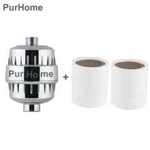 In-line bathroom Shower Filter bathing water filter purifier treatment Health softener Chlorine Removal 2pcs filter Cartridge(China (Mainland))