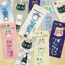 2pc/lot magnetic bookmark totoro black cat owl cute cartoon animal bookmarks school office supplies stationery(China (Mainland))