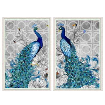 Needlework DIY 5D round AB Diamond painting,Diamond embroidery,3D Diamond stitch Pattern Rhinestone mosaic Peacocks Cross Stitch
