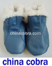 free shipping soft sole leather baby boots ( new design China Cobra )(China (Mainland))