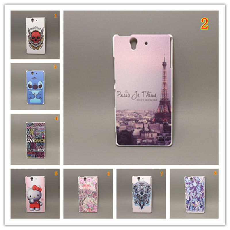 Fashion design Rubber Flower Painting Hard Plastic cell phone caseFor Sony Xperia Z L36H L36i L36 C6603 C6602 - case store