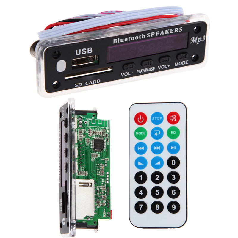 Hot Integrated Bluetooth Hands-free MP3 Decoder Board Module ZTV-M01BT Support USB / card / Bluetooth / FM / AUX Remote Control(China (Mainland))