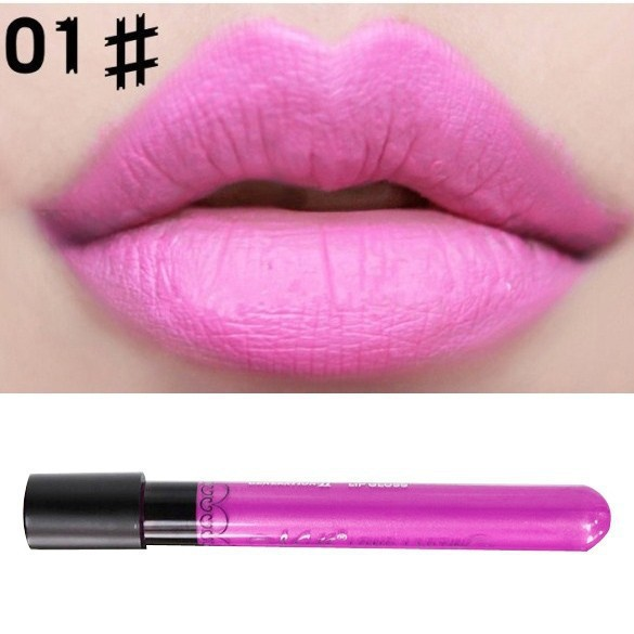 Moisture Matte Color Waterproof Lipstick Long Lasting Nude lip stick lipgloss red color vitality cerise star - Ultra Electronics Trading Co., Ltd store