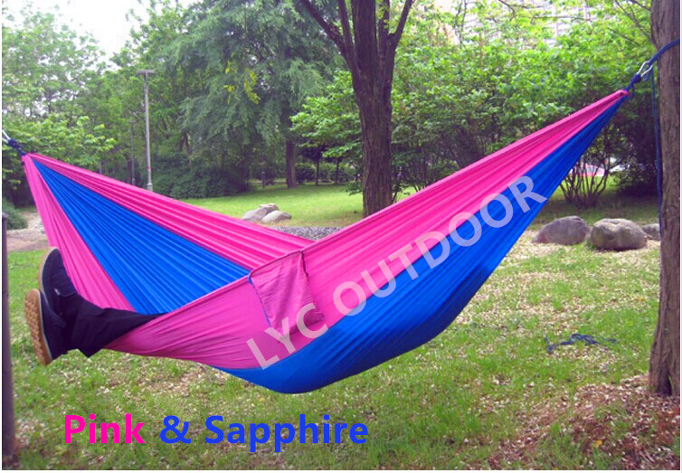 260cm*140cm Portable Outdoor Traveling Camping Parachute Nylon Fabric Hammock For Two Person(China (Mainland))