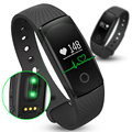 ID107 Bluetooth Smartband Heart Rate Monitor Wristband Fitness Flex Bracelet for Android iOS PK xiomi mi