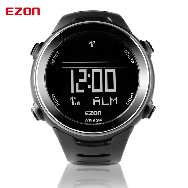 Ezon Digital Sports Watch World Time Stopwatch Multifunctional Waterproof Outdoor Running Sports  Electronic Watches L002A01