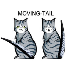 2015 New Car sticker Creative Cat style Auto wiper Moving Tail cat Wiper stickers Decals Scratches(China (Mainland))