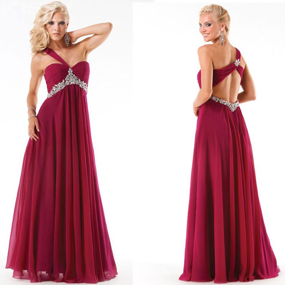 Attractive Hot Sale Long Burgundy Prom Dresses Unique ...