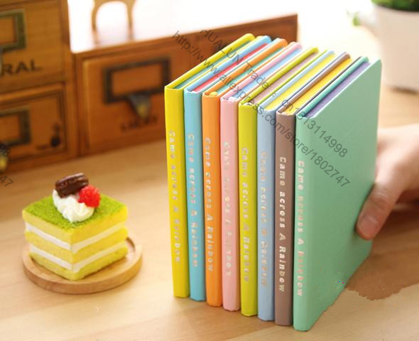 Гаджет  2 pcs / pack Kawaii Personality Rainbow Notebook Business Promotional gifts Journal Diary Notepad for Kids Gift  Stationery None Офисные и Школьные принадлежности