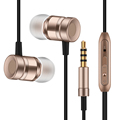 Fonge New Metal Headphone Super Earphones Bass Volume Control With Mic Headsets For All Mobile Phone