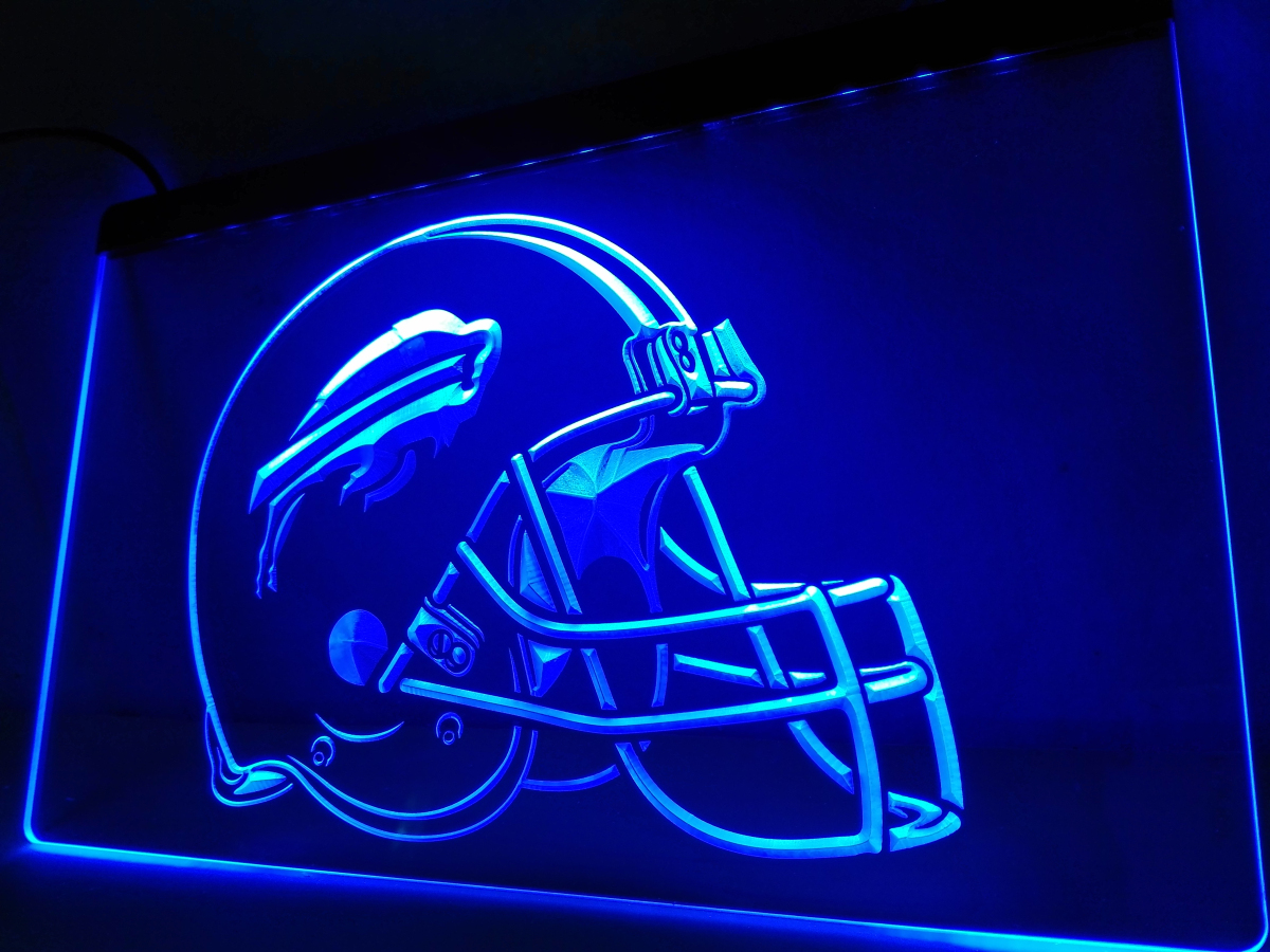 La232 Buffalo Bills New Helmet Bar Led Neon Light Sign Home Decor Crafts In Plaques Signs From