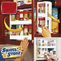 Swivel Store Spice Rack Space Saving Cabinet Organizer Spacesaver
