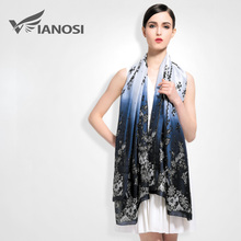 [VIANOSI] 2016 Brand scarf Women Vintage Flower Design 100% Silk Scarves Fashion Bohemian Style Shawls and Hijabs Ladies VA010(China (Mainland))