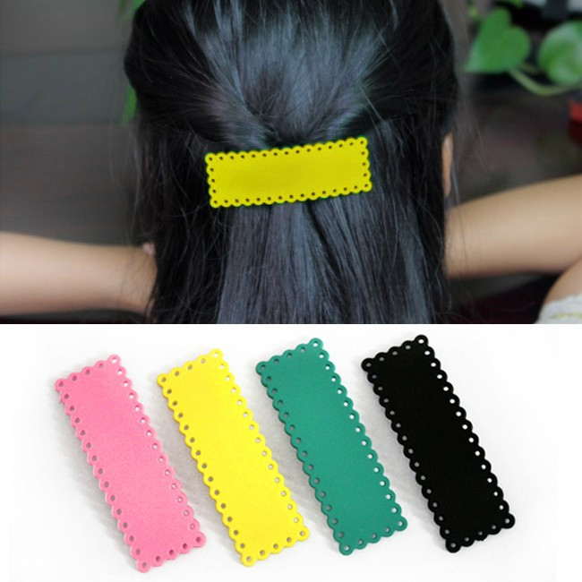 New Hot 4 Candy Colors Hairpin Hairclip Side-knotted Clip Cute Hair BB Clip Fashion Hair Accessories wholesale(China (Mainland))