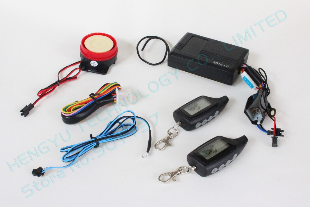 hot selling russian two way motorcycle alarm,LCD remotes vibration and light alarm,long distance remote,LED indicator HY-420(China (Mainland))