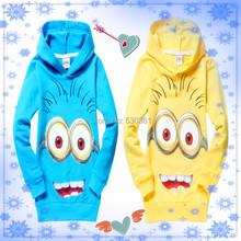 1pcs New 2015 despicable me 2 minion boys t shirt girls nova t-shirts kids children t shirts child Spring hoodies Tops & Tees(China (Mainland))