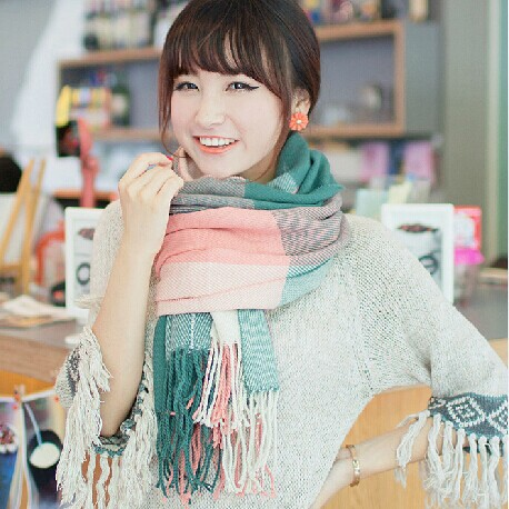 Winter Scarf Fashion Wool Spain Desigual Women Plaid Thick Scarves Shawl 2014 - Store1008 store