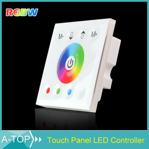 DIY Home Lighting New DC12V RGBW LED Touch Panel Controller Touch Dimmer Switch For SMD 5050 3528 3014 RGBW Flex Strip Lights(China (Mainland))