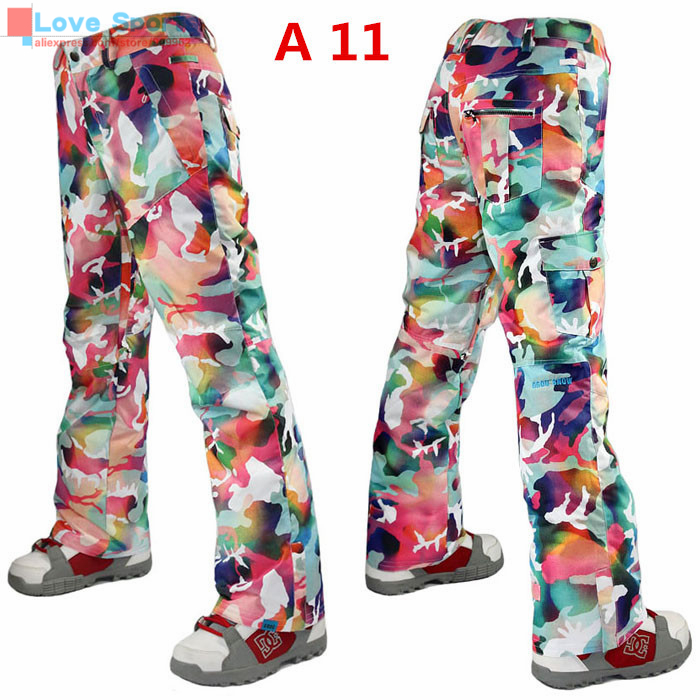 Newest High Quality Winter Colorful Snowboarding Pant 10K/10K Cotton Trousers Very Warm Skiing Pant for Women