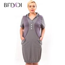 BFDADI Большой размер платья женские свободного покроя платье летом широкие платья для женщин 2016 балахон xl-5xl 2 цветов 9634(China (Mainland))