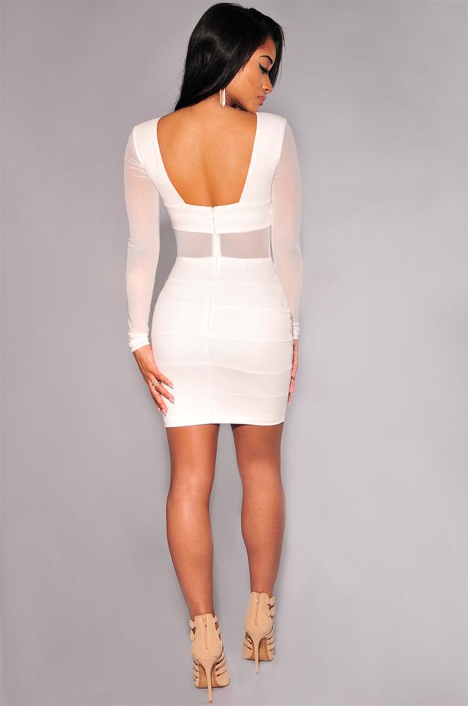 Black model white dress