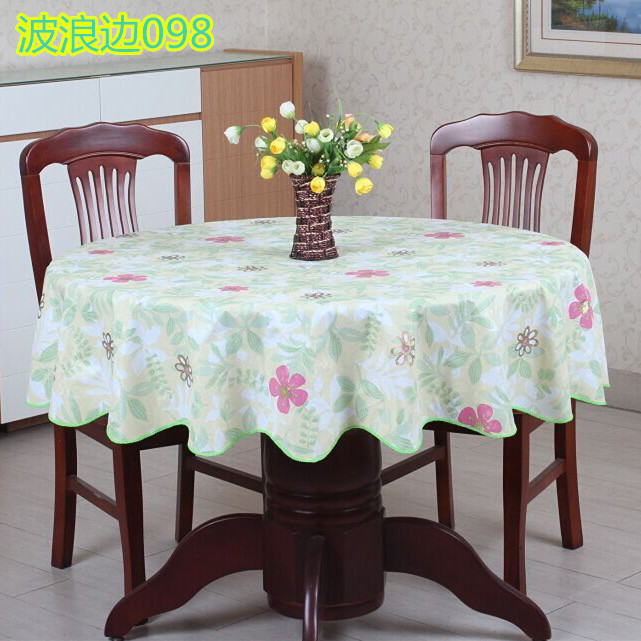 Wholesale 2016new Pvc Plastic Thickened Round Tablecloths Waterproof  Oilproof No Clean Tablecover Pastoral Style Round Linen Tablecloth  Christmas Tablecloth ...