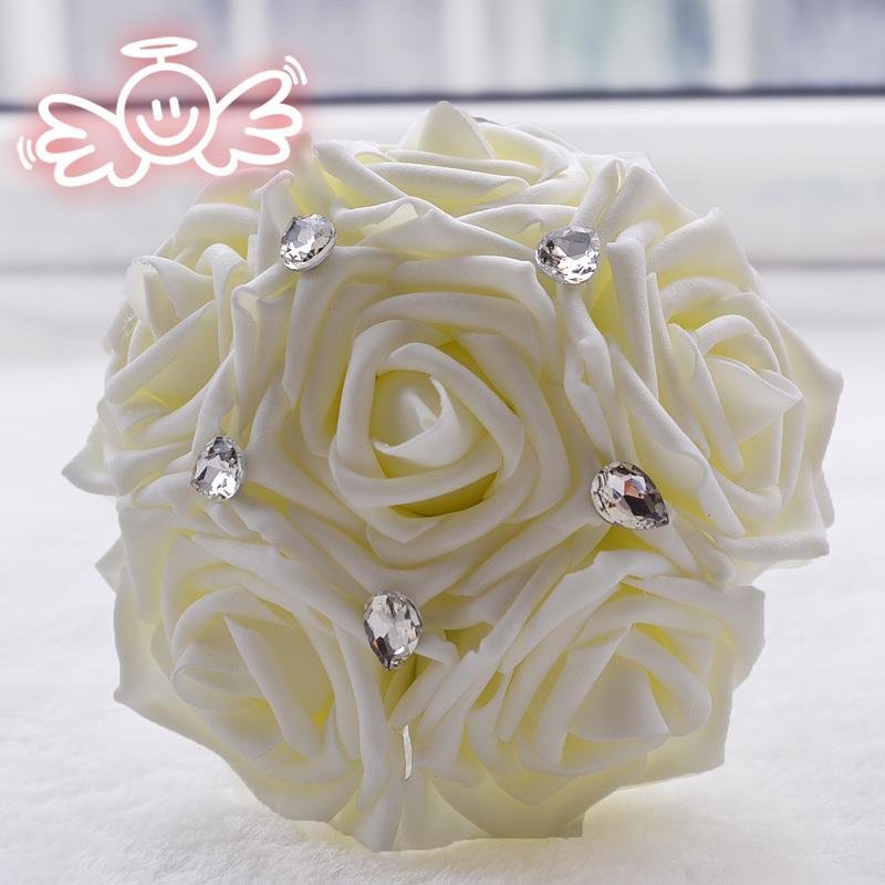 Cheap artificial flower decoration wedding bridesmaid bouquet(China (Mainland))