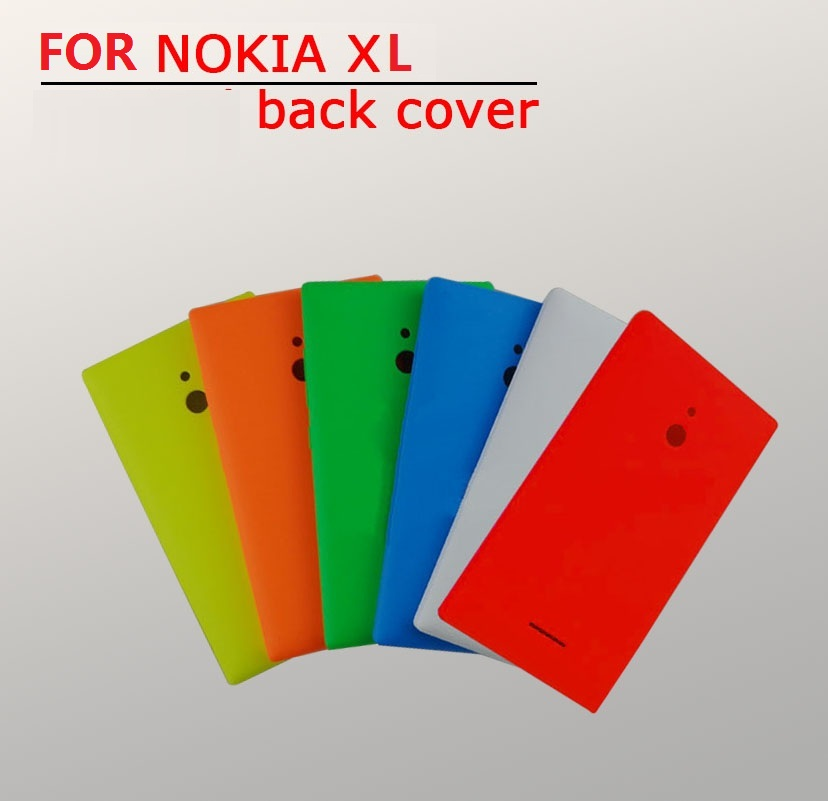 Best quality protective shell Rear battery housing For Nokia XL door back cover plastic case + Volume button +1pcs screen film(China (Mainland))