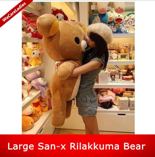 Cute Kawaii Big Huge Giant 80cm/31Inch Stuffed Plush Soft Bear Toy Animal Doll Pillow brown 100% Cotton lover gift(China (Mainland))