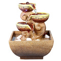 Small Ornaments Accessories Bonsai Rockery Water Old Fishinan and Water Absorption Ceramic Figure Accessories Mini Gift