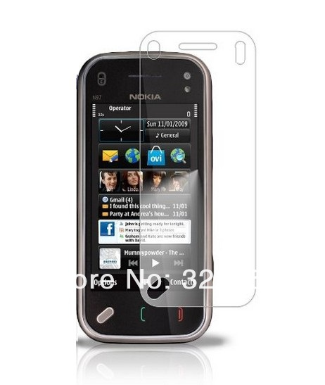For Nokia N97 Mini High quality Crystal Clear Screen Protectors free shipping 500pcs/lot(China (Mainland))