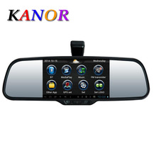 Android 4.0 5″ Car Reaview Mirror +DVR+Radar+Backup Camera+Bluetooth+Wifi+GPS track+FM+1080P+Special Bracket