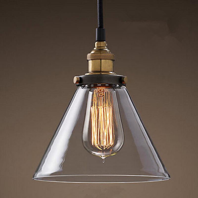 Retro vetro lampade lampade a sospensione vintage hanging light ...