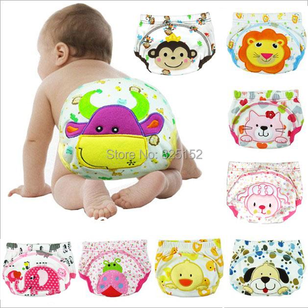 Free shipping 1PCS Baby boy girl newborn nappy infant toilet pee potty training pants Washable Cloth diaper Underwear Reusable(China (Mainland))