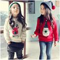 Autumn Winter Christmas Snowman Kids Girls Cartoon Sweatshirt Baby Girl Clothes Santa Claus Casual T Shirt