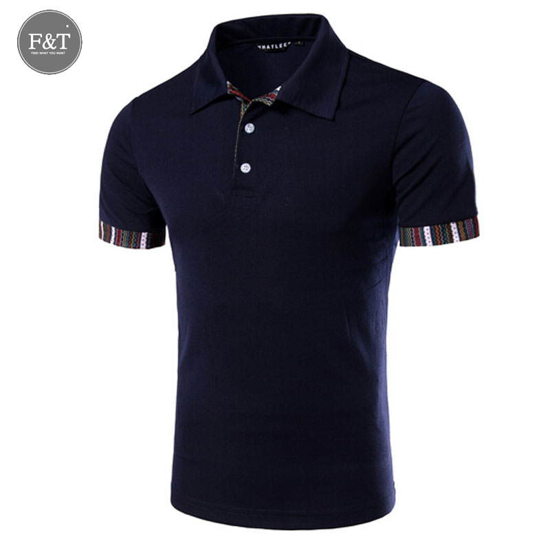 [Asian size] New Arrival Men's Stripe splicing polo shirt New Dressed Short Sleeve Polo Shirt Men's Turn Down Collar tee