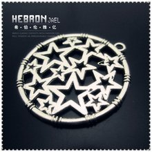 Free shipping(100pieces)Silver Jewelry Star Pendant(3315#)wholesale and retail Fashion Jewelry Accessory/Pendant Accessory(China (Mainland))