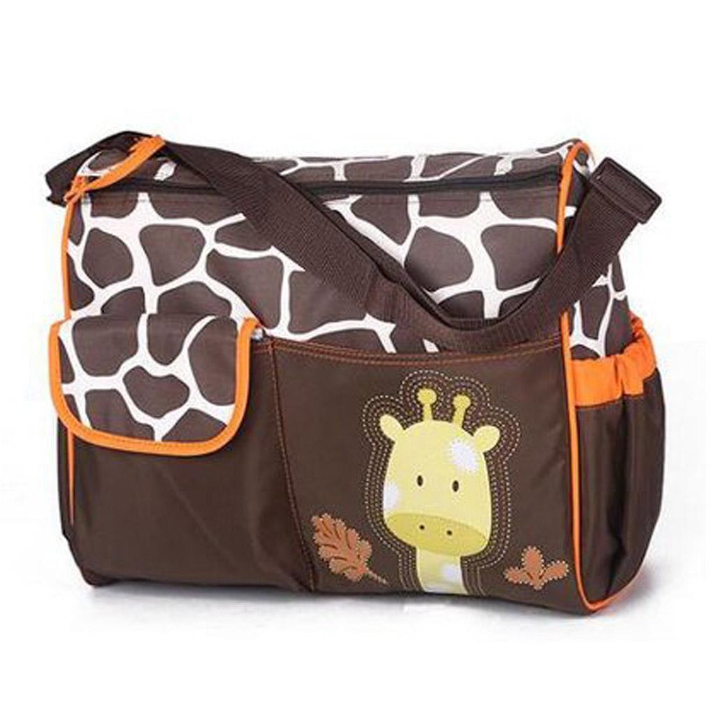 High Quality Multifunctional Baby Diaper Nappy Changing Storage Bag Mummy Handbag Cartoon Pattern(China (Mainland))