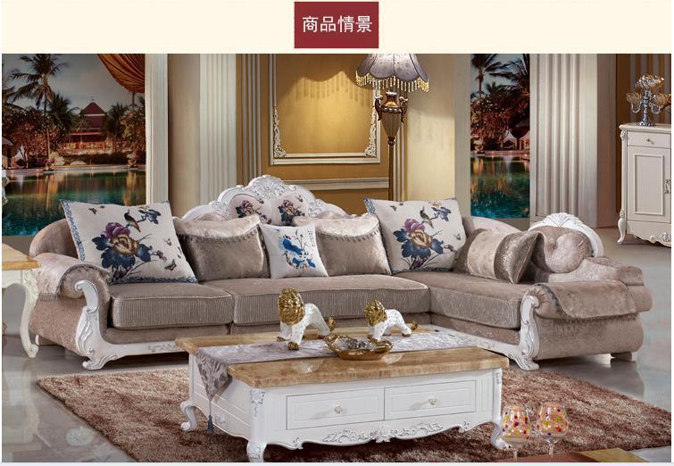 New Style Fabric Sofa Sets Classical European Style Combine Sofa High Grade Living Room Furniture Sofa Solid Wood Combine Sofa(China (Mainland))
