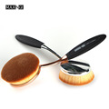 Pro Cosmetic Makeup Face Powder Blush BB cream Toothbrush Curve oval shaped Foundation liquid puff Brush Free shipping