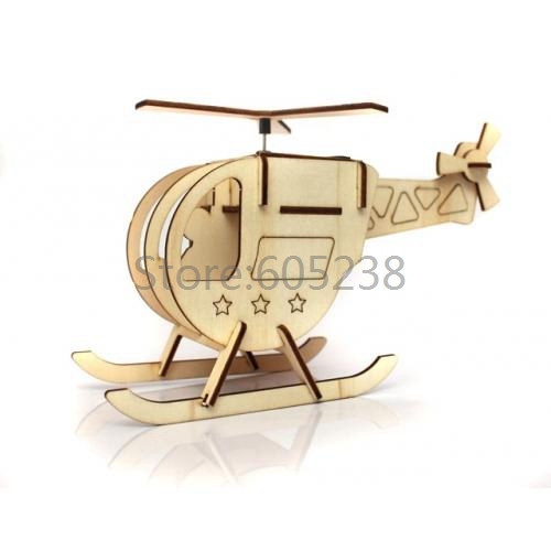 Free Shipping 1Piece Creative Eco-friendly DIY Puzzle Solar Powered Toy DIY Helicopter Solar Wooden Toy(China (Mainland))