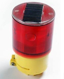 LED solar traffic warning light + 6 Led flashing+ light-operated for traffic,construction,airport beacon emergency warning
