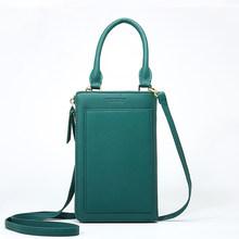 Moda feminina longa carteira portátil saco de pulso pequeno doce cor saco de telefone celular cartões de crédito titular cartas design bolsa de ombro(China)