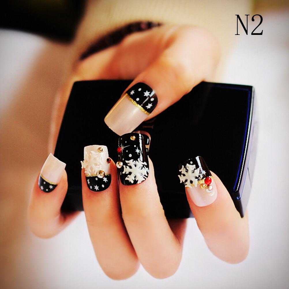 Wholesale French Pre Design Beautiful 3d False Nails Tips Fake Nail ...