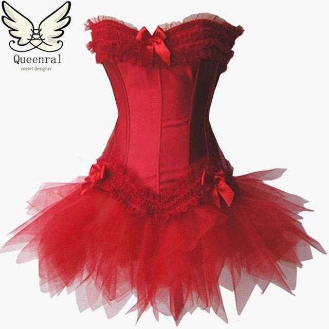Готический одежда стимпанк корсет талии учебные корсеты красный черный корсеты и ...