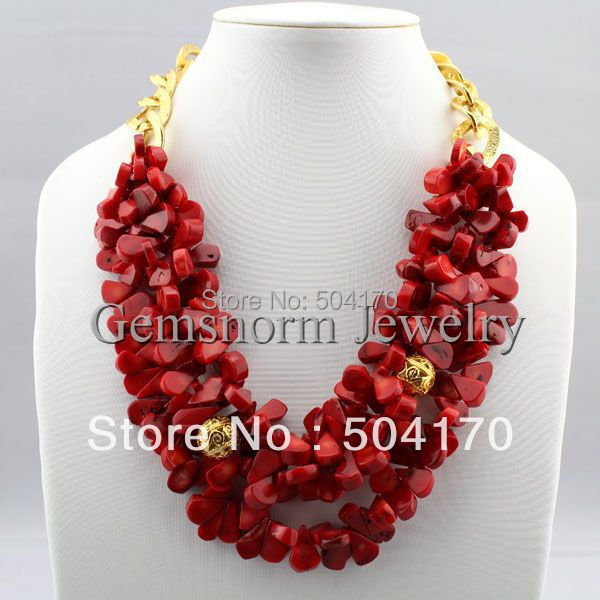 Free Shipping! New Handmade Red Melon Seeds Cluster Strands Necklace Charms 3 Layers Fashion Chain Necklace CNR136<br><br>Aliexpress