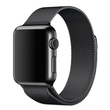 For Apple Watch Bands Correa 42mm Milanese Loop Strap Link Bracelet Stainless Steel for Apple iWatch Band 42mm 38mm Black(China (Mainland))