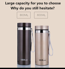 2016 New fashion large capacity vacuum cup with high quality 304 stainless steel and more than 24h heat preservation(China (Mainland))